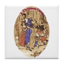 Belle with her Brood Tile Coaster