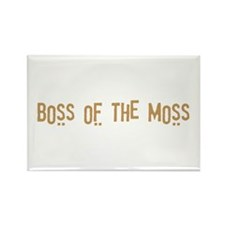 Boss of the Moss Rectangle Magnet