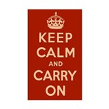 Keep calm and carry on Stickers & Flair