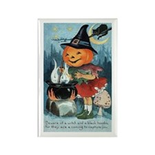 Vintage Halloween Pumpkin Rectangle Magnet