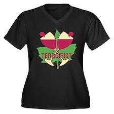 Terroirist Women's Plus Size V-Neck Dark T-Shirt