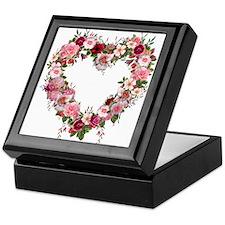 Floral Heart Keepsake Box