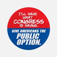 """SUPPORT THE PUBLIC OPTION 3.5"""" Button (100 pa"""
