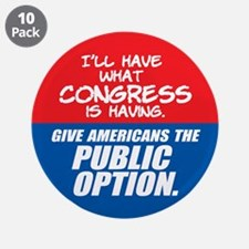 """SUPPORT THE PUBLIC OPTION 3.5"""" Button (10 pack)"""