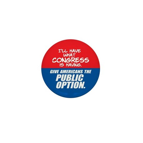 SUPPORT THE PUBLIC OPTION Mini Button (100 pack)