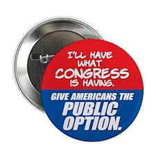 "SUPPORT THE PUBLIC OPTION 2.25"" Button (100 p"