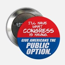 """SUPPORT THE PUBLIC OPTION 2.25"""" Button (10 pa"""