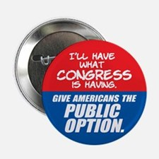 """SUPPORT THE PUBLIC OPTION 2.25"""" Button"""