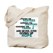 Support Admire Honor Cervical Cancer Tote Bag