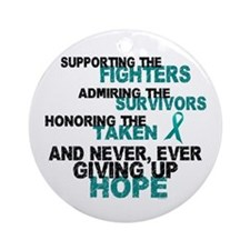 Support Admire Honor Cervical Cancer Ornament (Rou