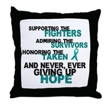 Support Admire Honor Cervical Cancer Throw Pillow