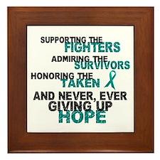 Support Admire Honor Cervical Cancer Framed Tile