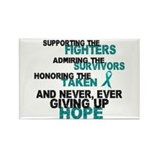 Support Admire Honor Cervical Cancer Rectangle Mag