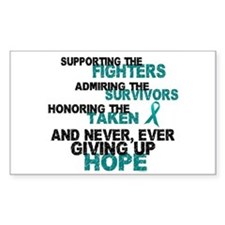 Support Admire Honor Cervical Cancer Decal