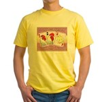 Delaware Family Cards Yellow T-Shirt