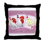 Delaware Family Cards Throw Pillow