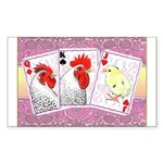 Delaware Family Cards Rectangle Sticker