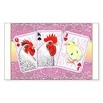 Delaware Family Cards Rectangle Sticker 10 pk)