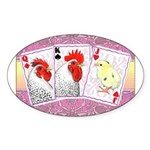 Delaware Family Cards Oval Sticker