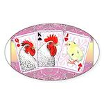 Delaware Family Cards Oval Sticker (10 pk)