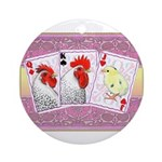 Delaware Family Cards Ornament (Round)