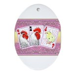 Delaware Family Cards Oval Ornament