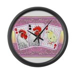 Delaware Family Cards Large Wall Clock