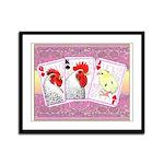 Delaware Family Cards Framed Panel Print