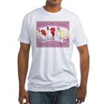 Delaware Family Cards Fitted T-Shirt