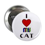 LOVE MY CAT Button