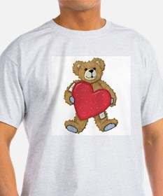 Teddy Bear Love Ash Grey T-Shirt