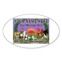 Your Name Here Oval Sticker (50 pk)
