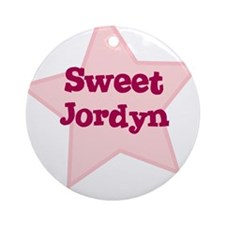 Sweet Jordyn Ornament (Round)