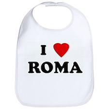 I Love ROMA Bib