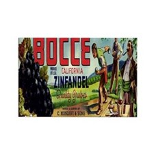 Bocce Rectangle Magnet (10 pack)
