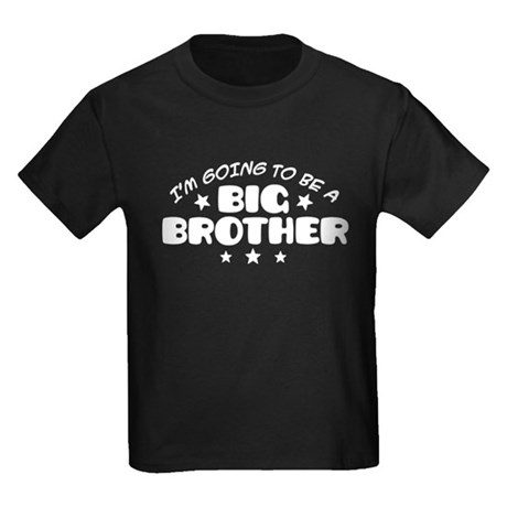 I'm Going To Be A Big Brother Kids Dark T-Shirt