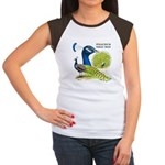 Peacock Indian Blue Women's Cap Sleeve T-Shirt