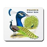 Peacock Indian Blue Mousepad