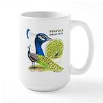 Peacock Indian Blue Large Mug
