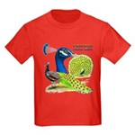 Peacock Indian Blue Kids Dark T-Shirt