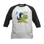 Peacock Indian Blue Kids Baseball Jersey