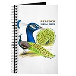 Peacock Indian Blue Journal