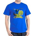 Peacock Indian Blue Dark T-Shirt