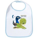 Peacock Indian Blue Bib