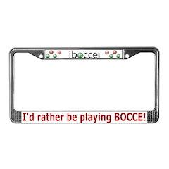 Bocce License Plate Frame