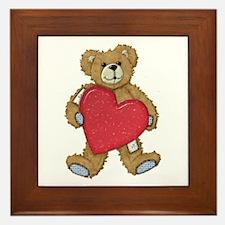 Teddy Bear Love Framed Tile