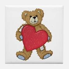 Teddy Bear Love Tile Coaster
