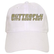 Butterfly with Sore Feet Baseball Cap