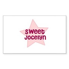 Sweet Jocelyn Rectangle Decal
