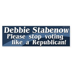 Debbie Stabenow, Stop Voting Republican!